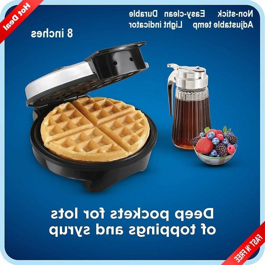 belgian waffle maker machine individual breakfast paninis