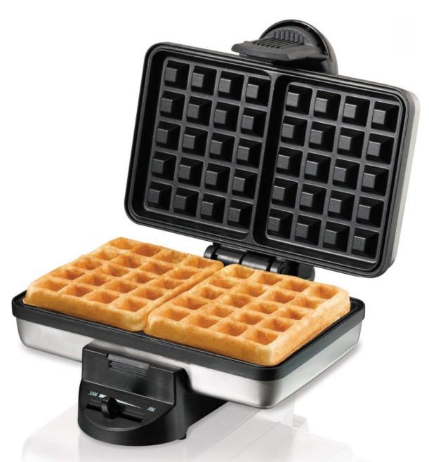 belgian waffle maker nonstick grids