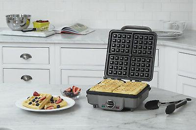 belgian waffle maker w pancake plates square