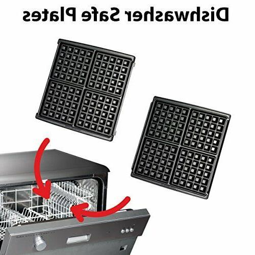 KRUPS Waffle Maker with Removable Plates,