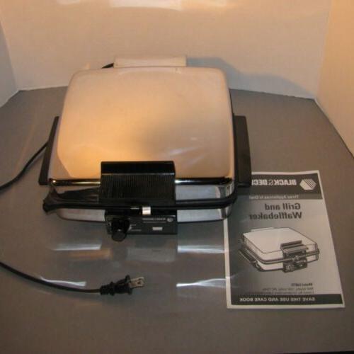Black & Decker Waffle Maker Griddle G48TD Watts Inst Unused