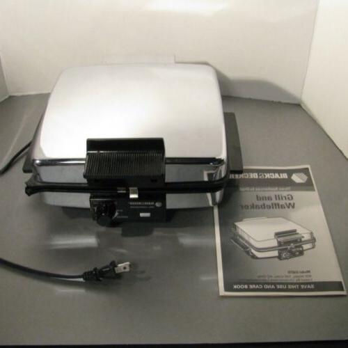 Black & Decker 3-in-1 Waffle Maker Griddle Combo G48TD 900 W