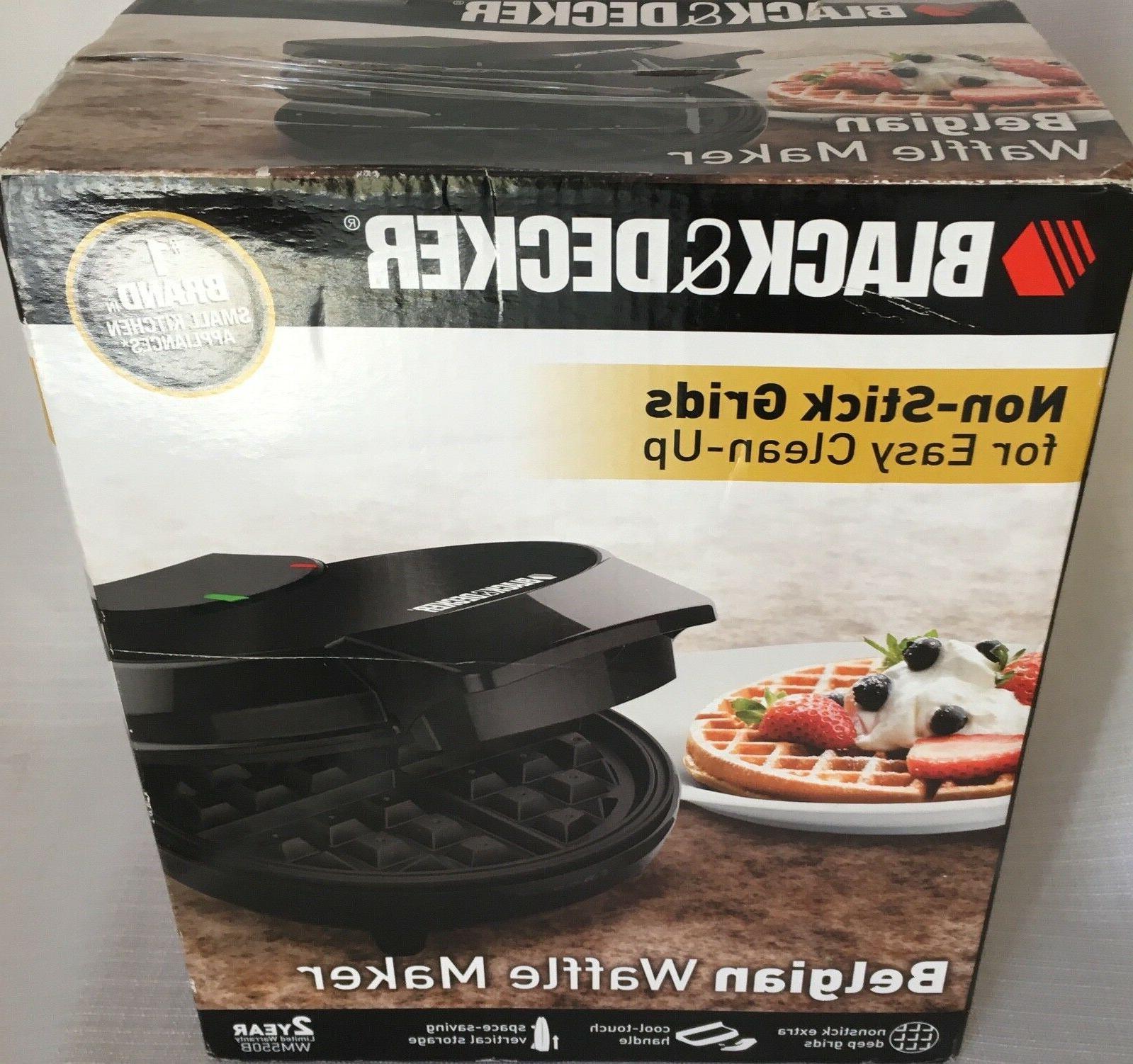 BLACK & DECKER Belgian Waffle Maker Space Saving Non Stick P