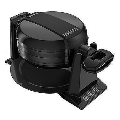 black and decker rotating waffle maker black