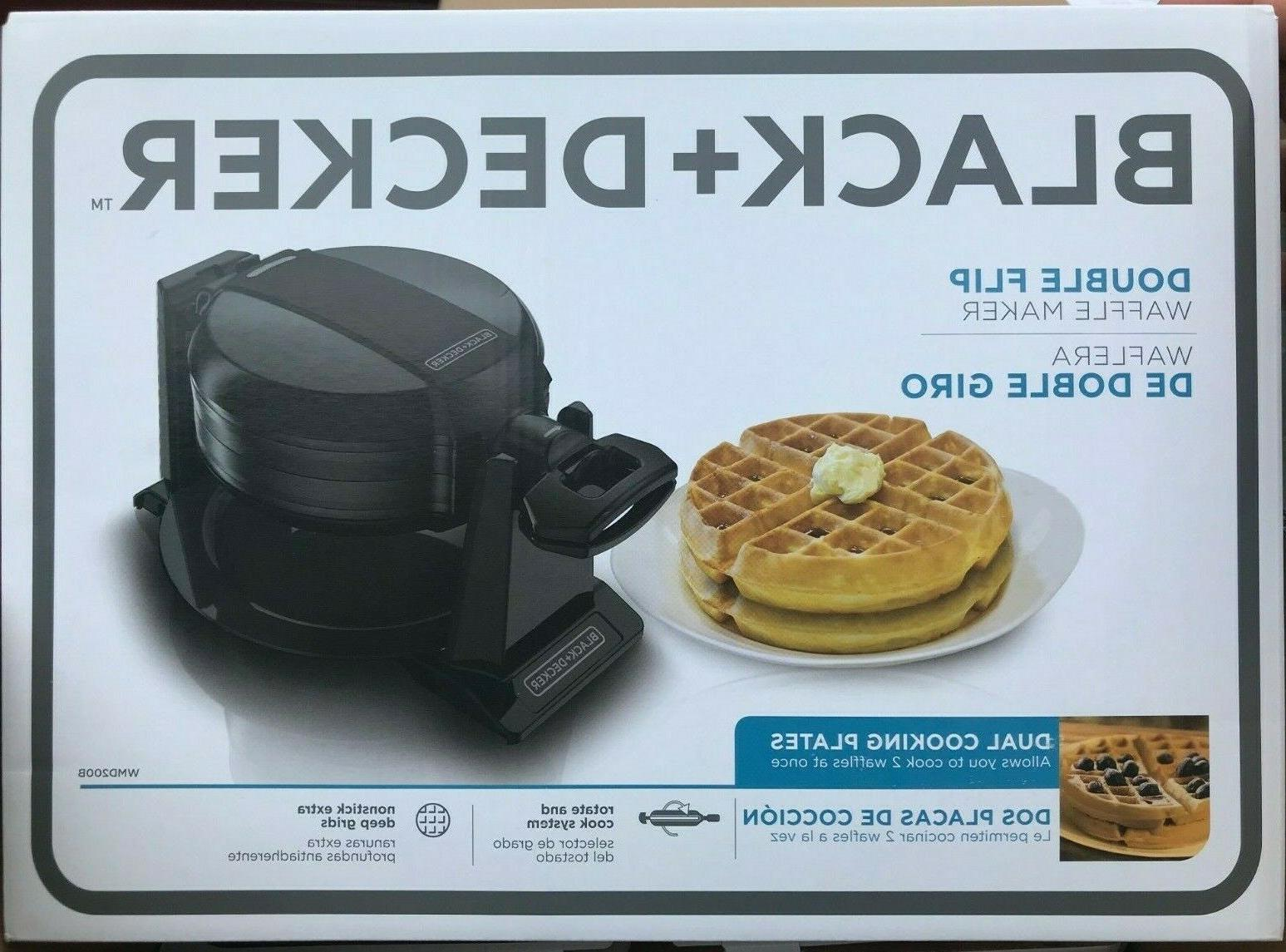 black and decker wmd200b double flip waffle
