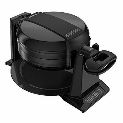 BLACK+DECKER Rotating Waffle Maker, Black, WMD200B *New*