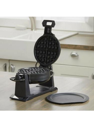 Black+Decker - Rotating Waffle Maker Gloss Shipping
