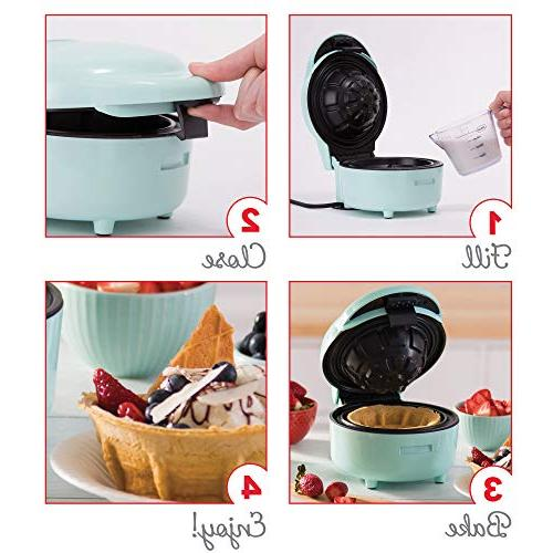 DASH The Maker for Individual Bowls, Belgian Taco Bowls, Chicken Waffles, other Sweet Savory Treats -