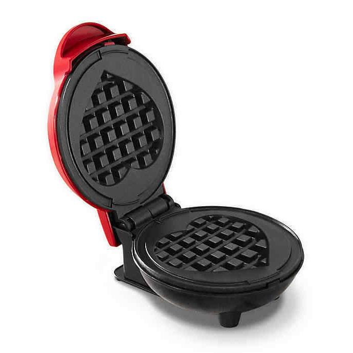 brand new dmw001hr mini heart maker waffle