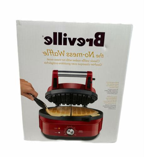 bwm520crn no mess two slice waffle maker