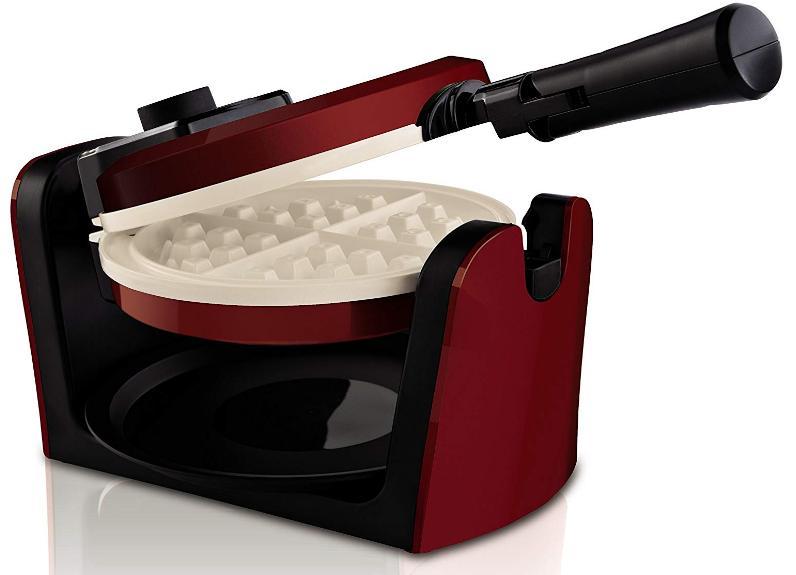 Ceramic Flip Waffle Maker Belgian Titanium Waring Pro Egg El
