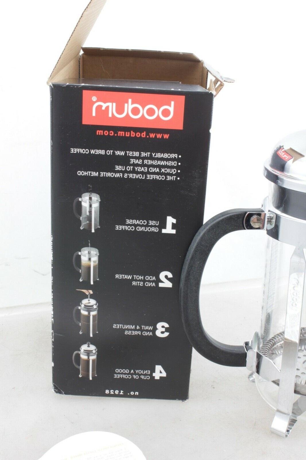 Bodum Chambord Chrome Press Coffee 8 cup NIB