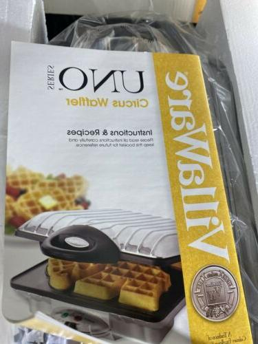 VillaWare Circus 20110 Chrome Waffle Maker