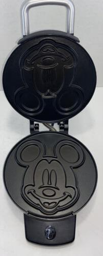 Disney Classic Mickey Mouse Waffle Maker Iron Stainless Stee
