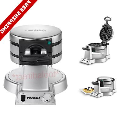 commercial belgian waffle maker round non stick