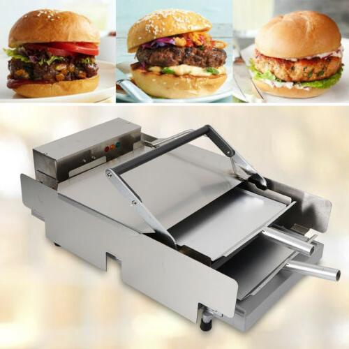 commercial double layer hamburger baking baker machine
