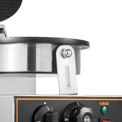 Commercial 110v Ice Cream Waffle Baker Maker Machine