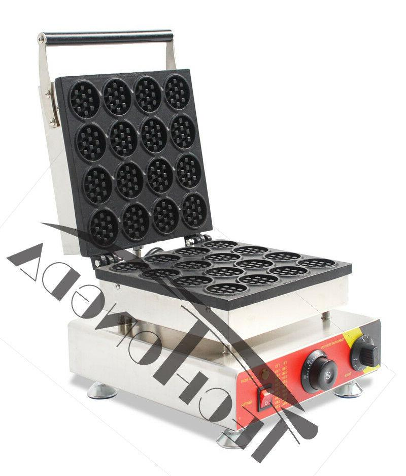 Commercial Nonstick Electric 16 Hole Waffle Machine Stick Ir