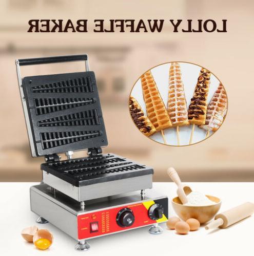 Commercial Lolly Waffle Maker 220V