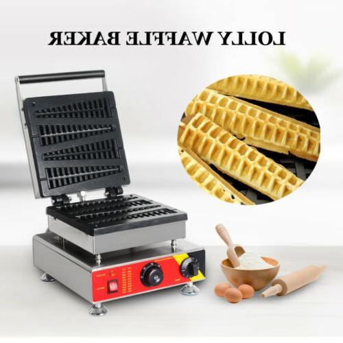 commercial nonstick electric 4pcs lolly waffle stick