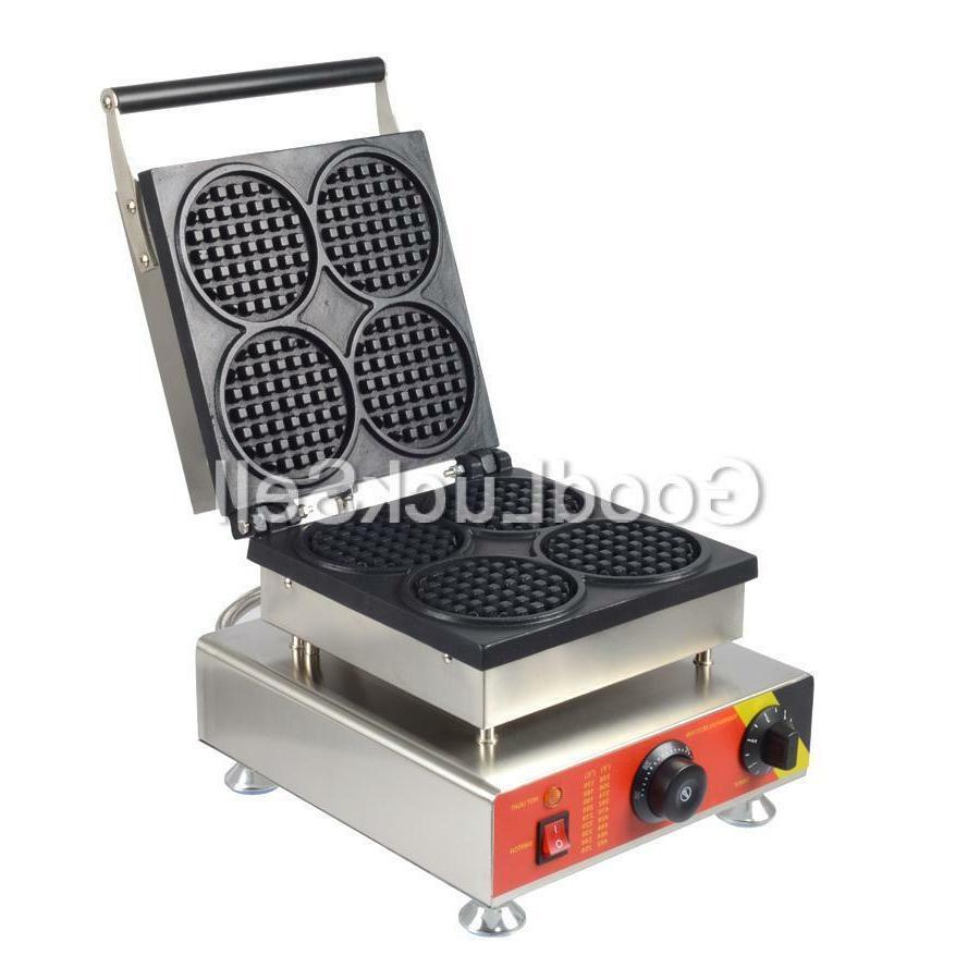 Commercial Electric 4pcs Mini Round Baker Iron US