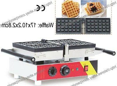 Commercial Nonstick Electric 4pcs Square Belgian Waffle Bake