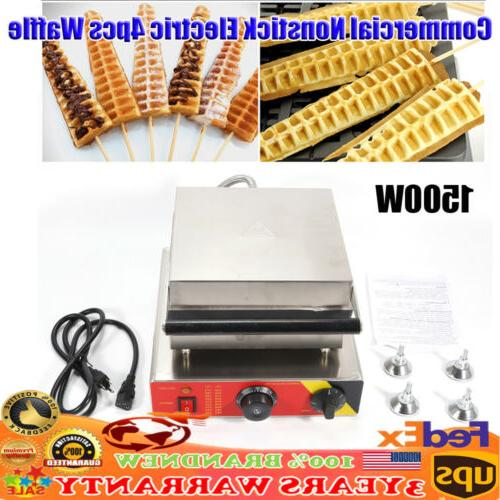 commercial nonstick electric 4pcs waffle dog stick