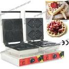 Commercial Nonstick Electric Heart Waffle Stick Mini Round W