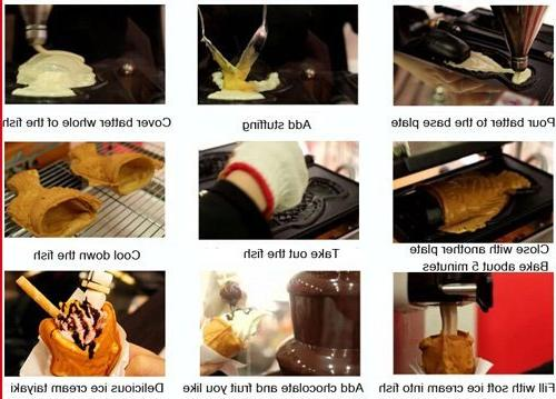 Commercial Nonstick Electric Ice Taiyaki Open Maker Iron