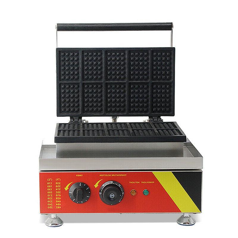 Commercial Nonstick Square Belgian Baker Machine