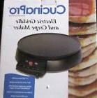 "CucinaPro Crepe Maker & Non-Stick 12"" Griddle- Electric Crep"
