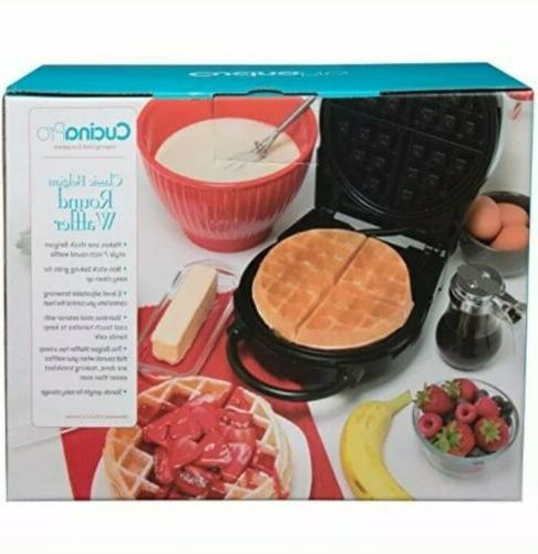 Cucina Round Waffle Maker-New Box