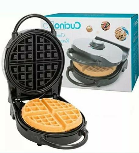 cucina pro classic belgian round waffle maker