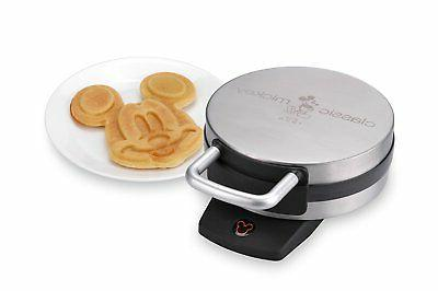 Disney DCM-1 Classic Mickey Waffle Maker Brushed Stainless S