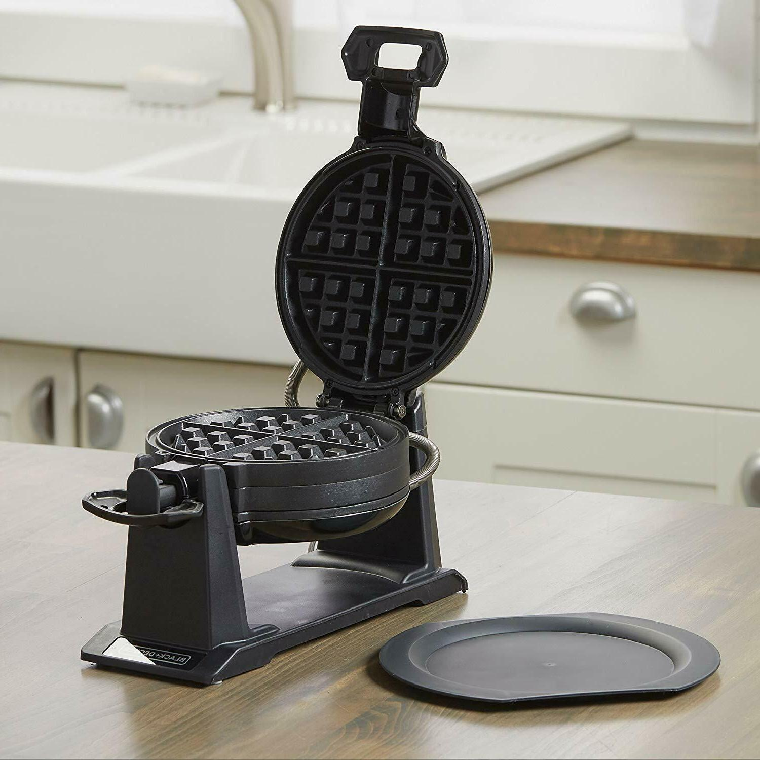 DOUBLE MAKER Rotating Non Stick Cook Round Waffles