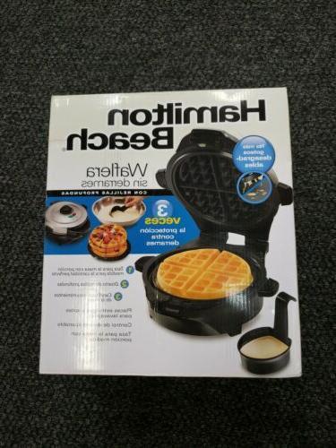 deep dish belgian waffle maker model 26055