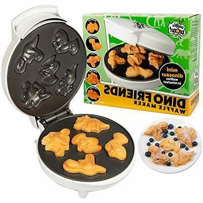 dinosaur mini waffle maker make breakfast fun