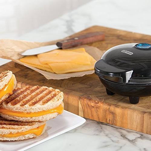 Dash Maker Portable Machine Panini Press for Burgers, Sandwiches, Chicken Other the Breakfast, Snacks with Recipe Aqua
