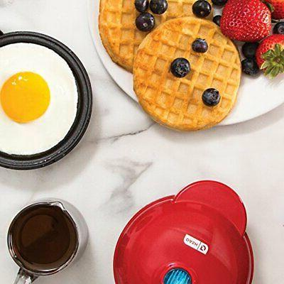 Dash DMS001AQ Electric Round Griddle Individual Pancakes, Cook...
