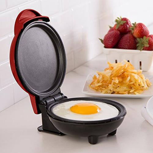 Dash Mini Electric Griddle Individual & other on go Breakfast, Snacks + Included Red
