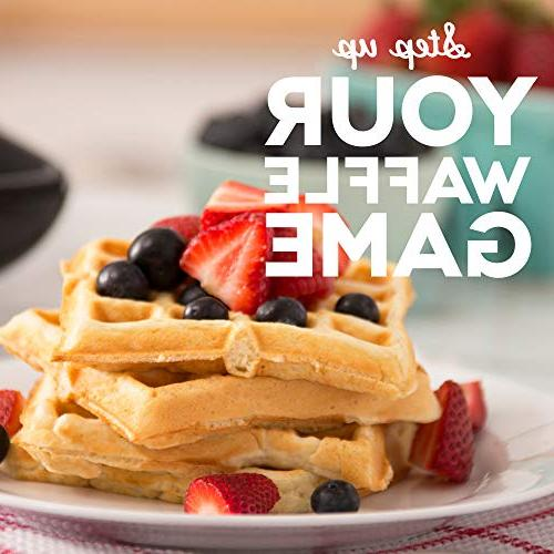 DASH No Mess Belgian Waffle Waffle 1200W + Machine Browns, Any Lunch, & Easy Non-Stick Mess