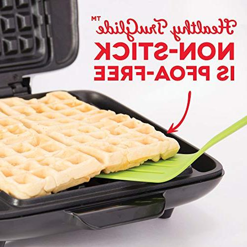 DASH No Waffle Maker: 1200W + Browns, or Lunch, Easy Clean, + Mess Free