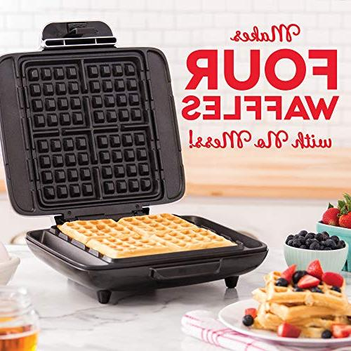 DASH Waffle Iron 1200W Waffle Machine For Browns, or Any Breakfast, Lunch, Snacks Easy Clean, Non-Stick Mess Silver