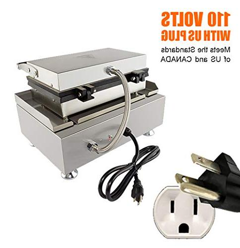 Hot Commercial 6 Lolly French | Stainless Crispy Baking Corn Waffles Non-Stick Maker Machine