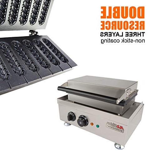 Hot Waffle Commercial PCS French | Steel Baking Corn Waffles Non-Stick MakerMachine Muffin ALDKitchen