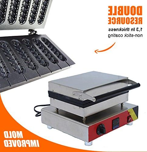 DIGITAL PCS Lolly French molds 110v | stainless steel Crispy Dog, Waffles MakerMachine ALDKitchen