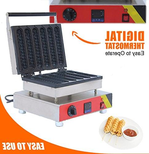 DIGITAL Hot Waffle Maker PCS French molds steel Dog, MakerMachine ALDKitchen