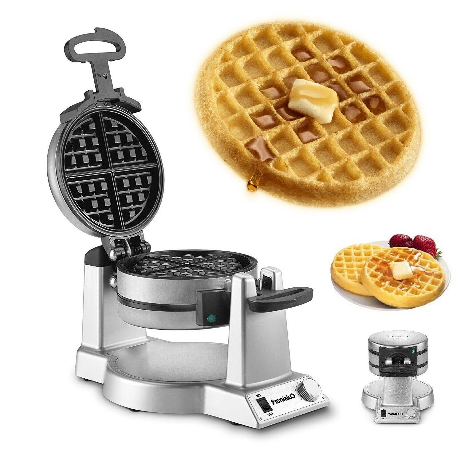 DOUBLE Commercial Iron Kitchen Waffles Baker