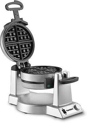 double belgian waffle maker stainless steel nonstick