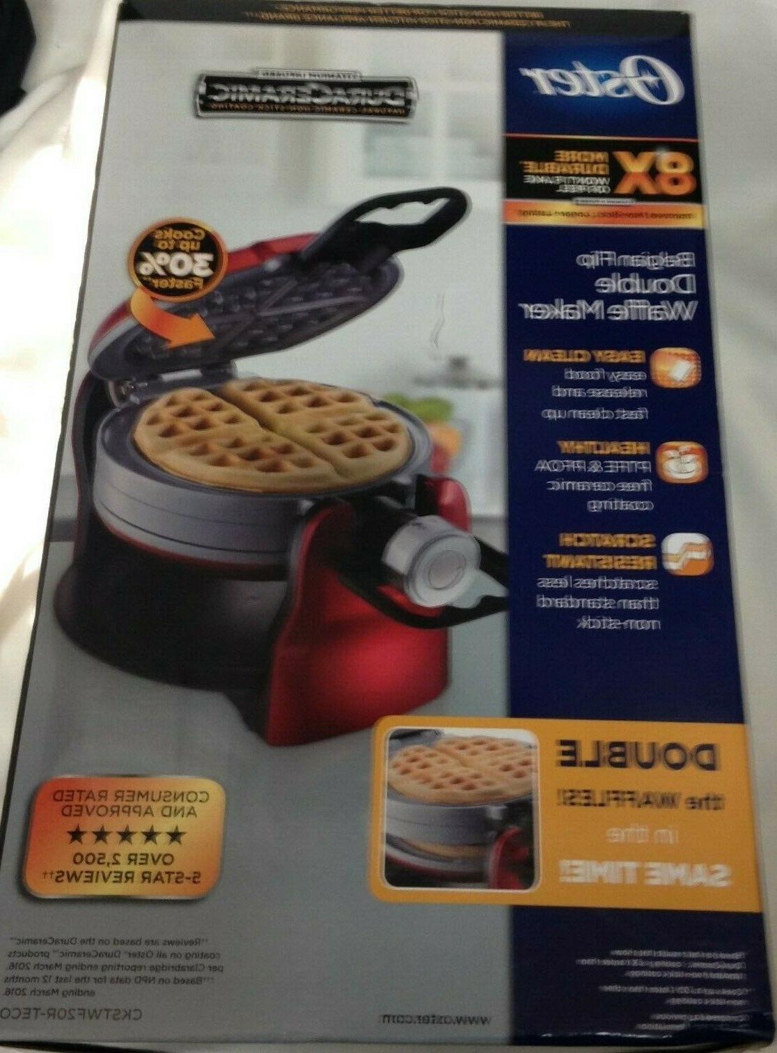 duraceramic double flip waffle maker